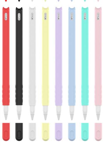 Cartoon Silicone Round Pen Cap Sleeve Grip Cover Pencil Case for Apple Pencil 2