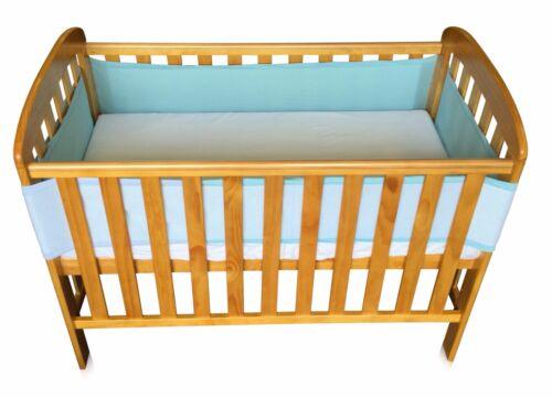Cot Bed Bumper Breathable Air Mesh Crib Liner Wrap Nursery Set Breathe Easy