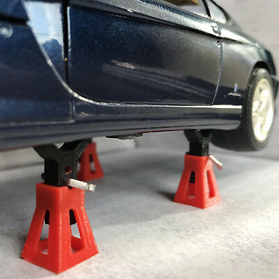 4 x Red Working Jack Stands for Diorama Garage / Workshop 1:18 scale Car  Model | eBay