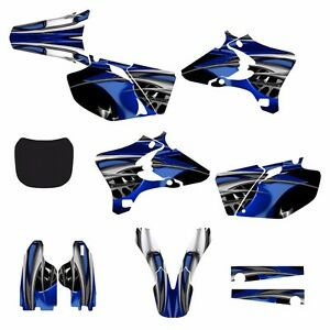 2003 2004 2005 YZ250F YZ450F Graphics decal sticker kit #4444 Blue Tribal Stickers, Emblems & Flags