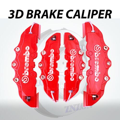 4pcs Red 3D Styling Disc Brake Caliper Cover Kit For Honda 16-18 inch wheels