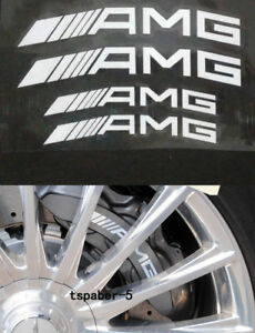 Reflective White AMG Caliper Brake Decal HI TEMP Vinyl Sticker A C E GLK GLC