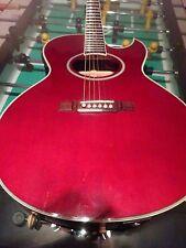Washburn Single Cutaway Acoustic  Guitar (EA-24WR) Clear Red