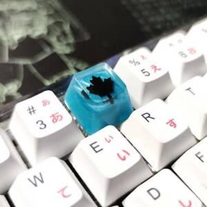 Rainbow-6-Black-Ice-Keycap-OEM-R4-Blue-Resin-Key-Cap-For-Cherry-MX-Keyboard-1pc