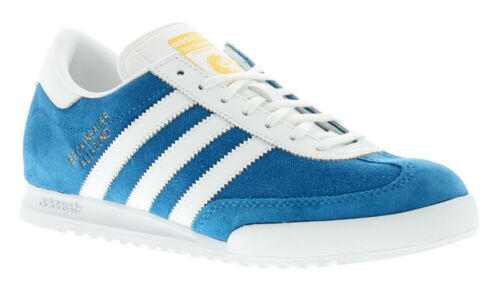 New Mens//Gents Blue//White Adidas Originals Beckenbauer Trainers UK Size