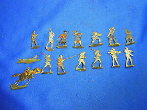 Details about Attic Found Lot of 15 Antique Tin / Pewter Toy Soldiers World  War One WW I #BM9