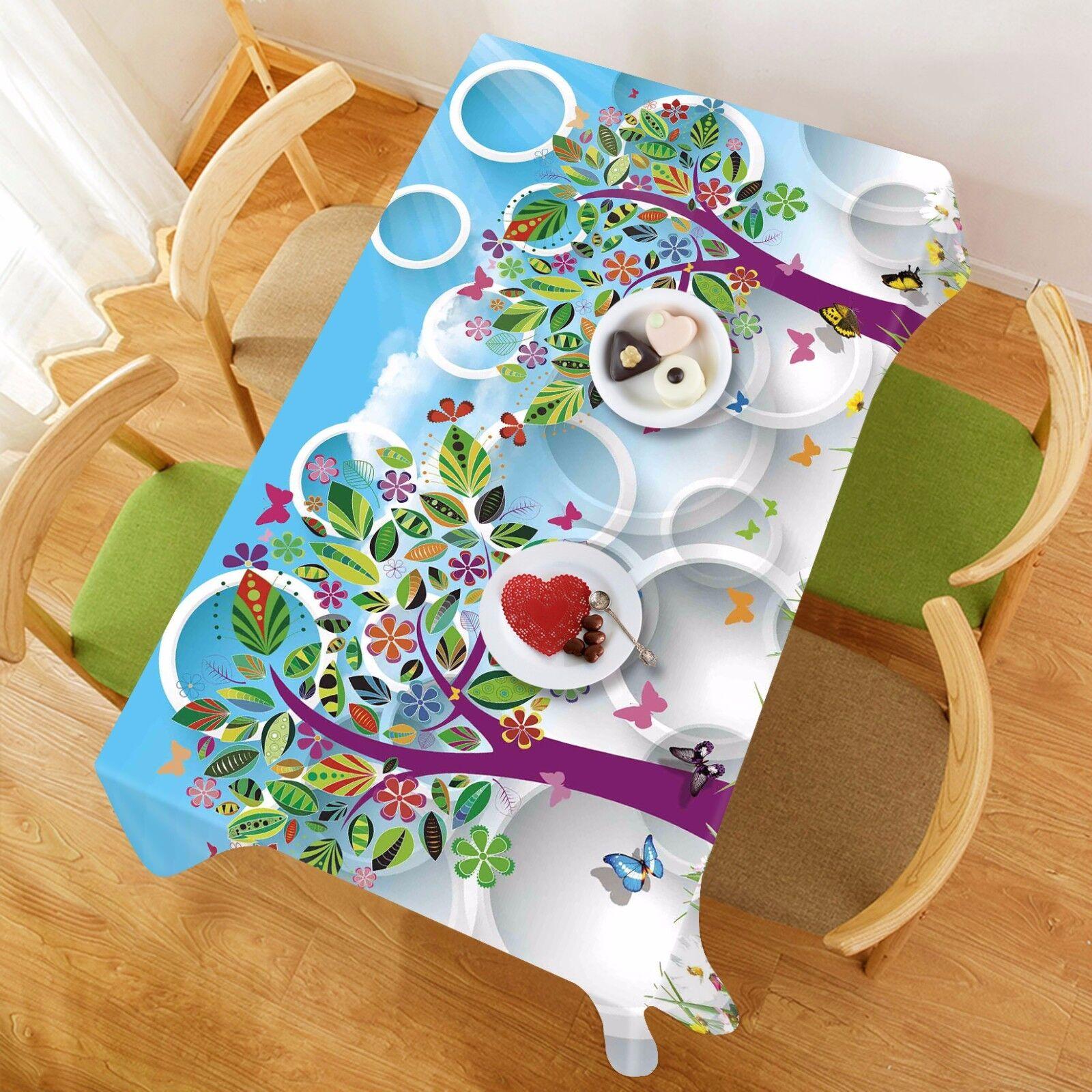3D Arbres 48 Nappe Table Cover Cloth fête d'anniversaire AJ papier peint Royaume-Uni Citron