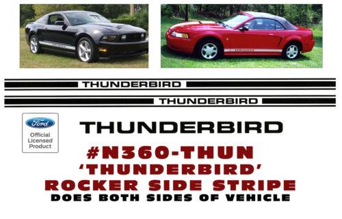 LICENSED THUNDERBIRD NAME LOWER ROCKER SIDE STRIPE N360 FORD THUNDERBIRD