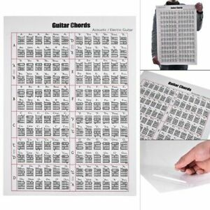 Acoustic  Electric Guitar Chord Scale Chart Poster Music Lessons Teacher Tools
