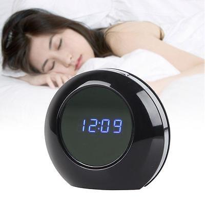 A distancia HD 720P Reloj Despertador Digital Cámara Espía Detección Movimiento