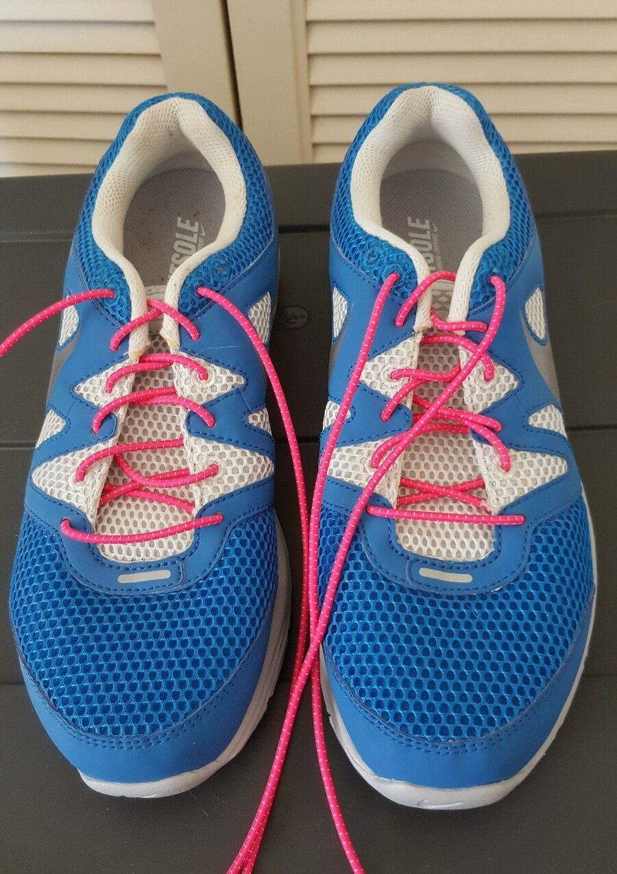 NIKE FITSOLE BLUE AND WHITE ATHLETIC SHOES MENS SIZE 7.5 Seasonal clearance sale