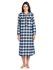1bd4bb89772c9 Ashford   Brooks Women s Flannel Plaid Long Sleeve Nightgown