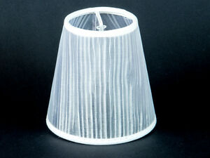 Lampenschirme Klein Kronleuchter ~ Lampenschirm tüll klemmschirm organza weiss kronleuchter