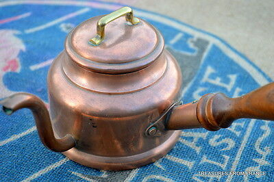 French copper hot chocolate/ coffee pot c1900 single cup