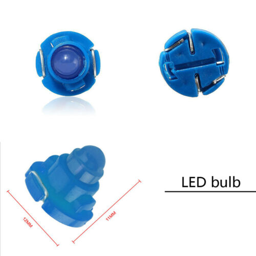 10* T4.7//T5 Blue Neo Wedge LED Bulb Dash Climate Control Instrument Light Lamps