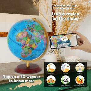 """13"""" Augmented Reality Interactive AR App Based World Globe for Kids Educational"""
