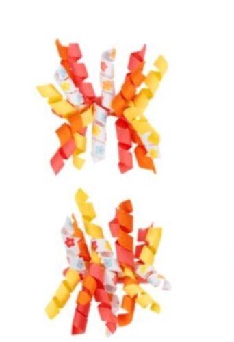 Gymboree Aloha Sunshine Curlies Barettes Ribbon 2T 3T 4T 5T Yellow orange 2012