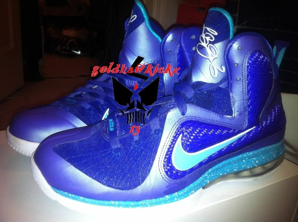 nike air max lebron 9 ix hornet SLH 9.5 purple galaxy dunkman summit lake hornet Brand discount