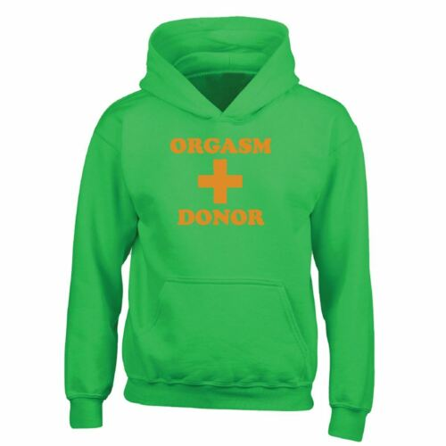 Hommes Pull-over Orgasm Donor Blogger Novelty Funny Tumblr Premium Sweat à Capuche Cadeau