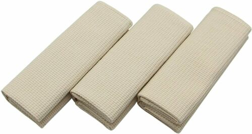 3× Waffle Weave Ultra Absorbent Quick Dry Kitchen Dish Cloths Tea Towels 17x25In