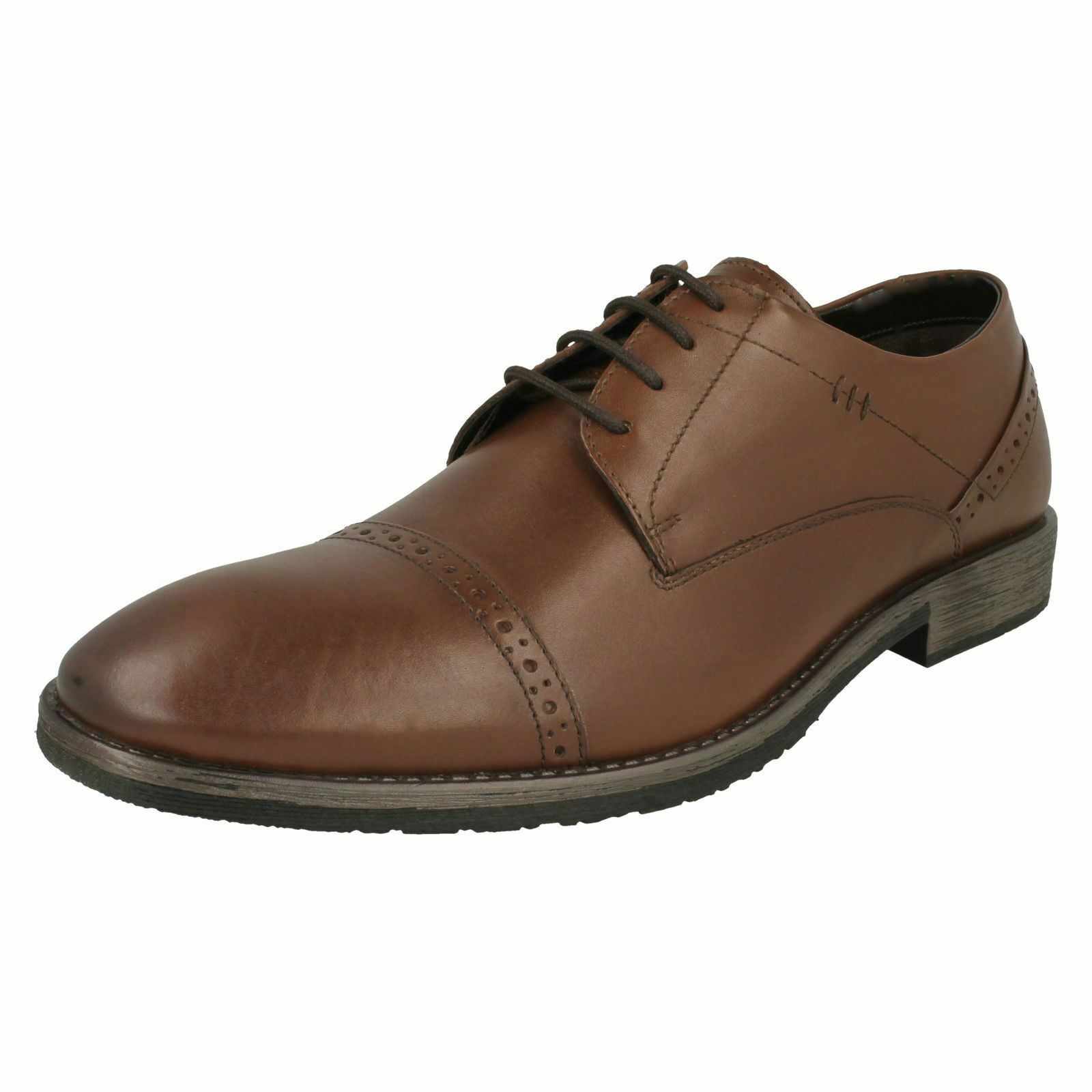 Da Uomo Hush Puppies Smart Stringati Luganda in pelle Scarpe Craig Luganda Stringati 155fb3