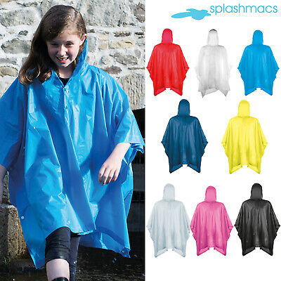 PVC Rain Poncho Splashmac Festival Rain Mac windproof waterproof Drawstring