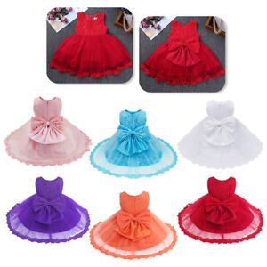 Toddler-Baby-Girl-Princess-Lace-Tutu-Wedding-Party-Pageant-Formal-Dress-Infant