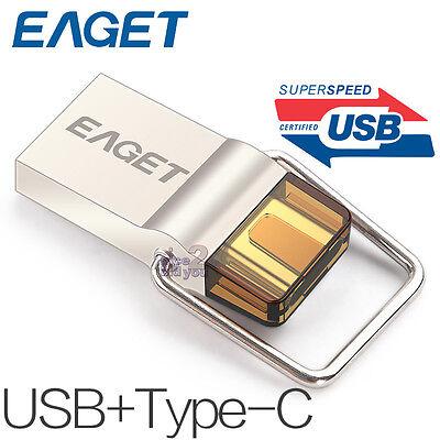 32GB OTG USB-C Type-C USB 3.0 Pen Drive Flash Drive Memory Stick EAGET CU10
