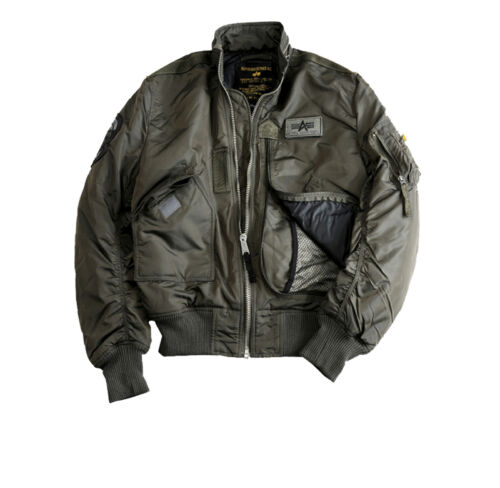 Alpha Industries Engine 103101 S-3XL Jacket Flight Bomber Jacket Blouson New