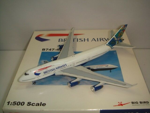 Bigbird 500 British Airways BA B747-400  mundo Cola-Nalanji soñando  1 500