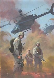 Kampf Zone: True Tales Von Gis IN Iraq #1 Bemalt Abdeckung - 2005 Art Esad Ribic