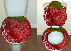Designer Novelty Printed Toilet Seat Strawberry Design - Beverley, East Riding of Yorkshire, United Kingdom - Designer Novelty Printed Toilet Seat Strawberry Design - Beverley, East Riding of Yorkshire, United Kingdom
