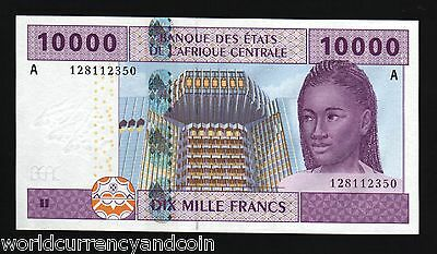 Central African States 10000 10,000 Francs Cameroon U p-210Ue 2002 UNC Banknote