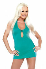Fantasy Lingerie Turquoise Keyhole Mini Dress