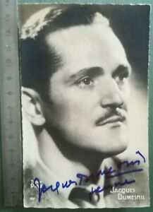 BB32-Photo-dedicacee-Autographe-TBE-CPA-Jacques-Dumesnil