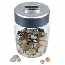 Euro Coin Counting Money Jar Digital LCD Display Piggy Bank Savings Safe