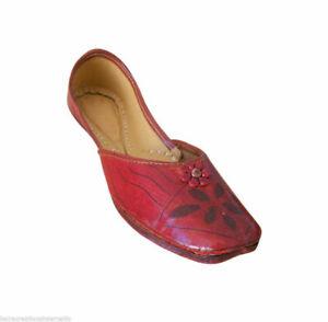 Women Shoes Traditional Leather Ballet Flats Ballerinas Cherry Mojari US 5.5