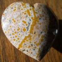 POPPIN MULTI RUNG ORBS OCEAN JASPER HEART SCULPTURE DISPLAY 5305