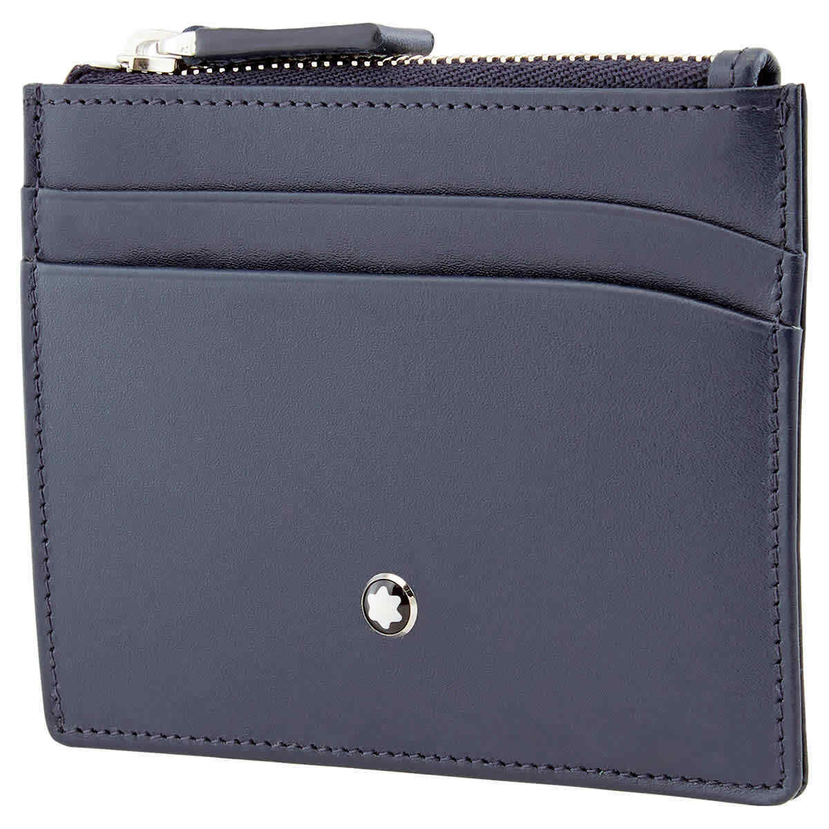 Montblanc Blue Card Case With Zip Pocket 126224