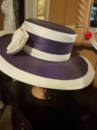 Lady Wide Brimmed Straw Church Hat
