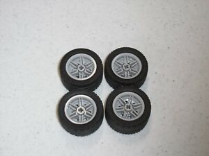 Lego Lot of 10 New Black Wheels 30.4mm D x 20mm No Pin Holes Hubs Reinforced