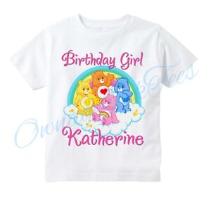 Care bears custom t shirt personalize birthday add name ebay for Custom t shirts add photo