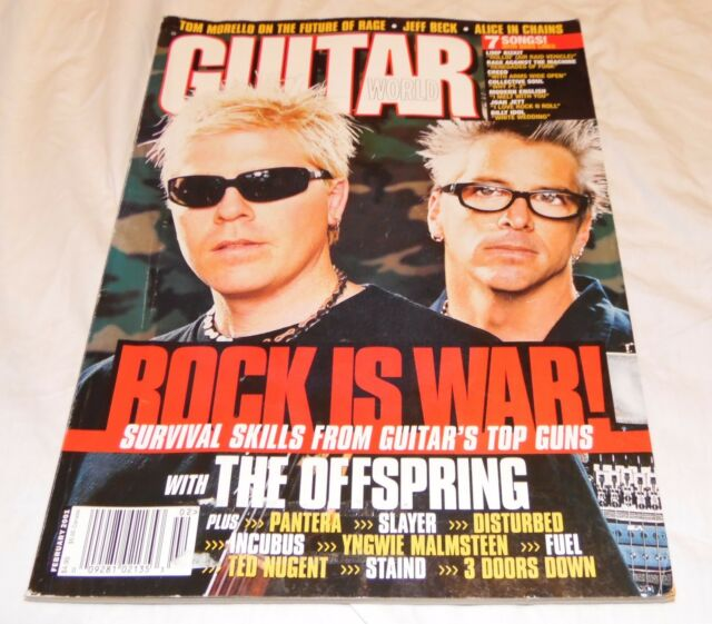 Guitar World Magazine Back Issue February 2001 The Offspring Dexter Noodles