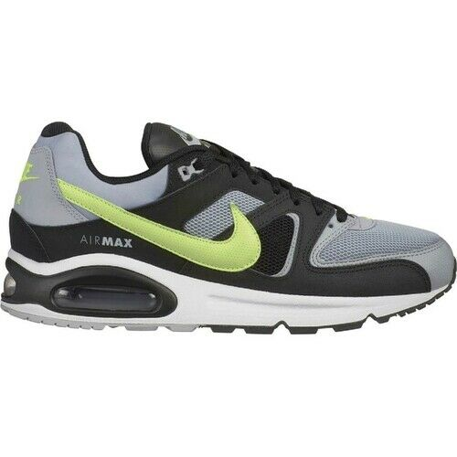 New Men's Nike Air Max Command Shoes (629993 047) Wolf GreyBlack Volt Cool Grey