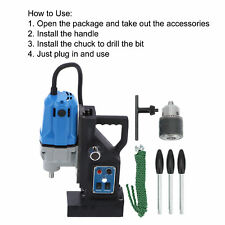 Electric Magnetic Drill Portable Industrial Drilling Rig Machine 100720rpm New