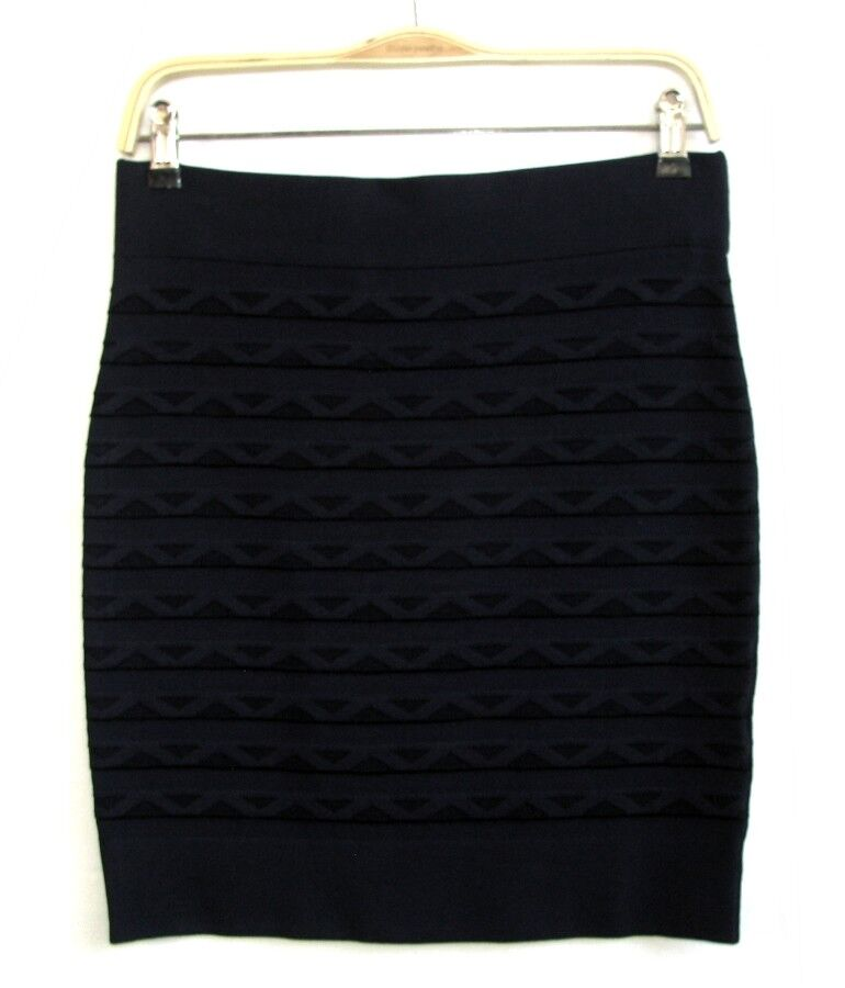 FRENCH CONNECTION - SHORT SKIRT STRECHY MIDNIGHT blueE T 12 FR - NEW & TAG