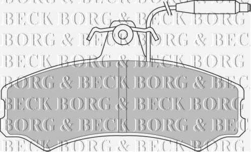 FRONT  BRAKE PADS FOR TALBOT GENUINE OE BORG /& BECK  BBP1082