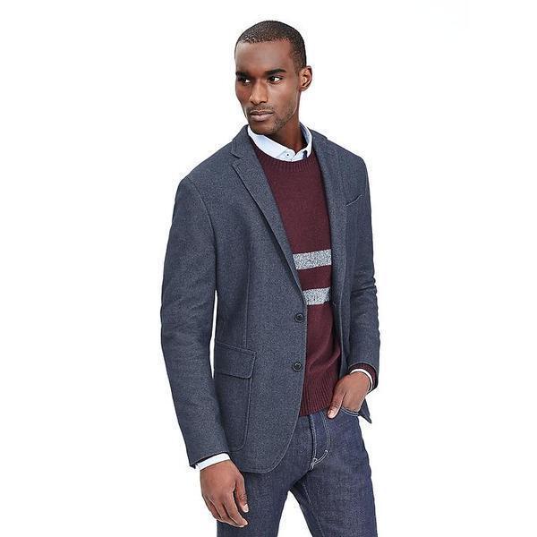 Banana Republic Modern Slim Mesh-Lined Blazer,Pure bluee SIZE 42s 42 s