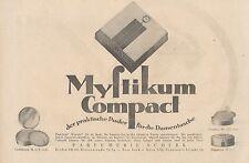 Y4197 MYSTIKUM Compact - Parfumerie Scherk - Pubblicità d'epoca - 1925 Old ad