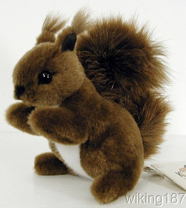 KOSEN Made in Germany NEW Small Sitting Brown & White Squirrel Plush Toy